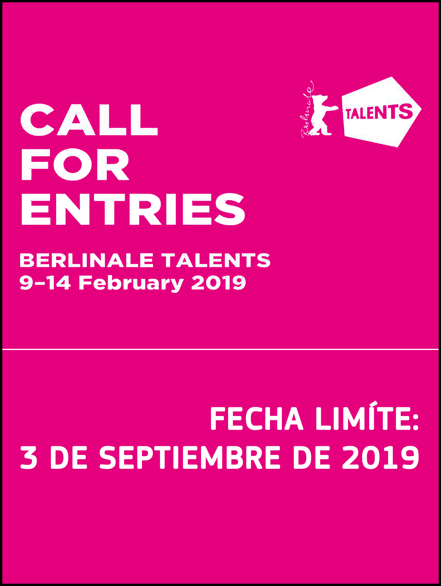 Berlinale Talents Call for entry interiorboder