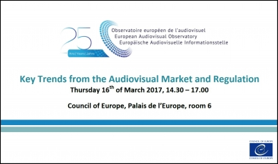 CONFERENCIA: Tendencias clave de la TV, Cine y VOD (Observatorio Europeo del Audiovisual)