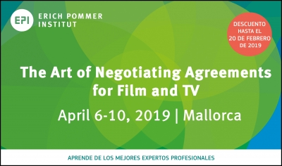 ERICH POMMER INSTITUT: El curso The Art of Negotiating Agreements for Film and TV se llevará a cabo en Mallorca