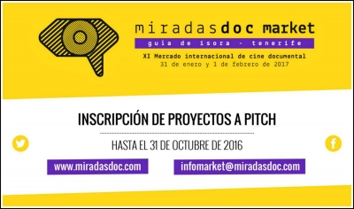 MIRADASDOC MARKET PITCH 2017: Inscribe tu proyecto
