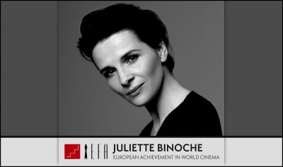 EUROPEAN FILM AWARDS: Juliette Binoche recibirá el premio European Achievement in World Cinema